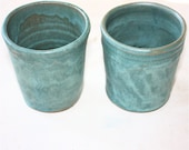 Turquoise Tumbler Pair for Kitchen or Bathroom