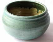 Turquoise Stoneware Bowl for Forcing Bulbs or Flower Arranging