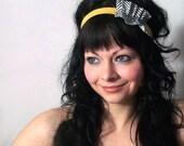 Victorian headband eco friendly new wave stripes DAFFODIL JILL