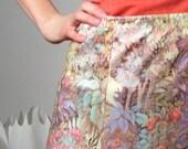Vintage skirt seventies floral print medium SPRING FLING