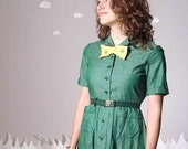 Vintage dress fitted authentic girl scout uniform extra small THIN MINT