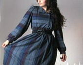 Vintage dress gradient blue purple stripes soft cozy medium SOOTHING STRIPES