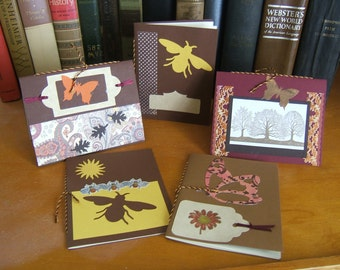 Stationery Cards A2 Set of 5 with Pages Fall Colors Nature Theme