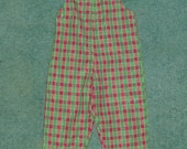 reserved for Lorrie Harmon ONLY-3T Christmas Plaid longall - clearance