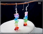 Colourful Quartz Chips Earrings (w. 925 STERLING SILVER earwires)