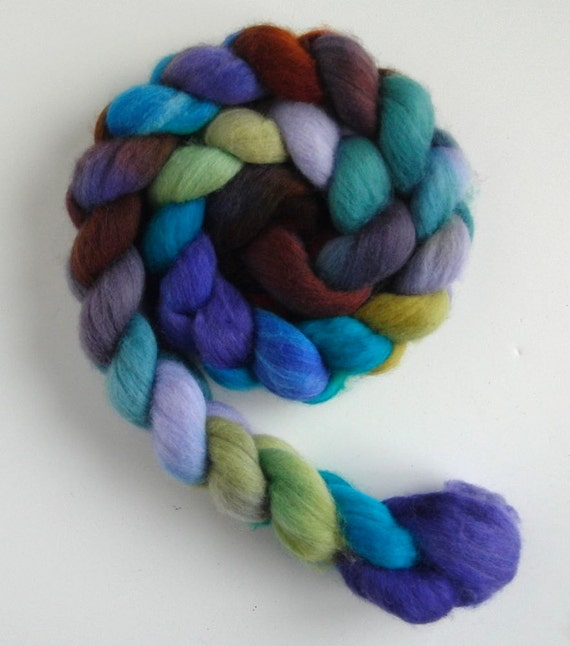 Merino Top (Roving) Superfine - Handpainted Spinning or Felting Fiber, Tank Tops