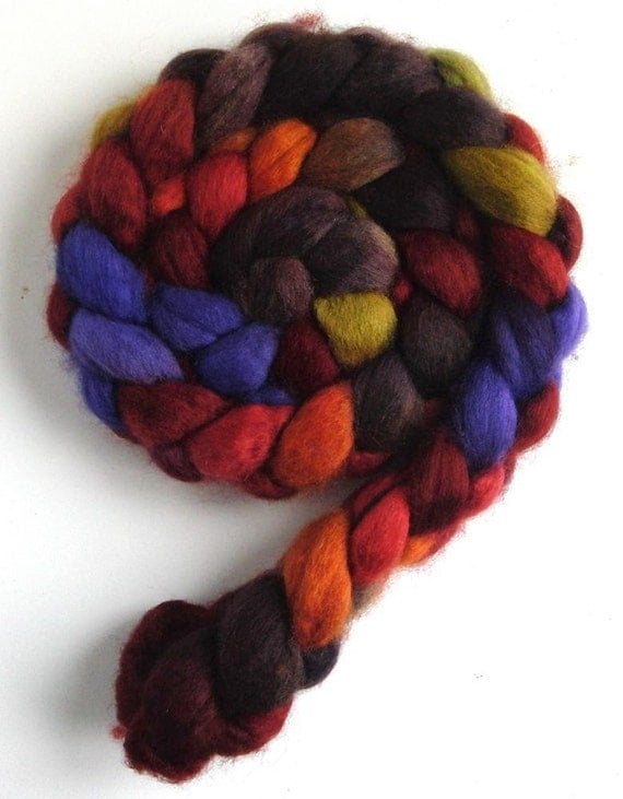 Special Listing for Vicarjane BFL Wool Roving (Top) - Handpainted Spinning or Felting Fiber