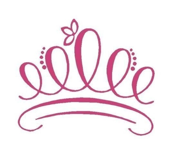 Tiara Princess Crown Embellishment Vinyl Decal by wallspoken