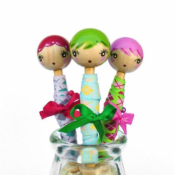 Bobbin Babes - set of three.
