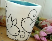 CHIRP - Birdy Doodle Cup/Vase as Seen in Farm Home Magazine