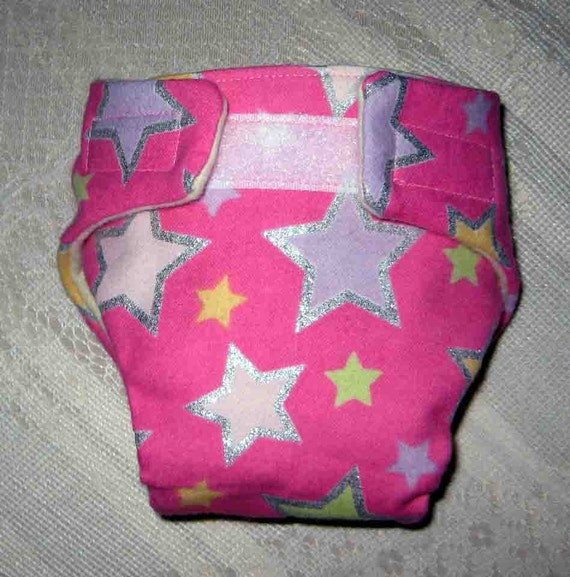Baby Doll Cloth Diaper-Adjustable to Fit Bitty Baby, Cabbage Patch, American Girl Dolls and More