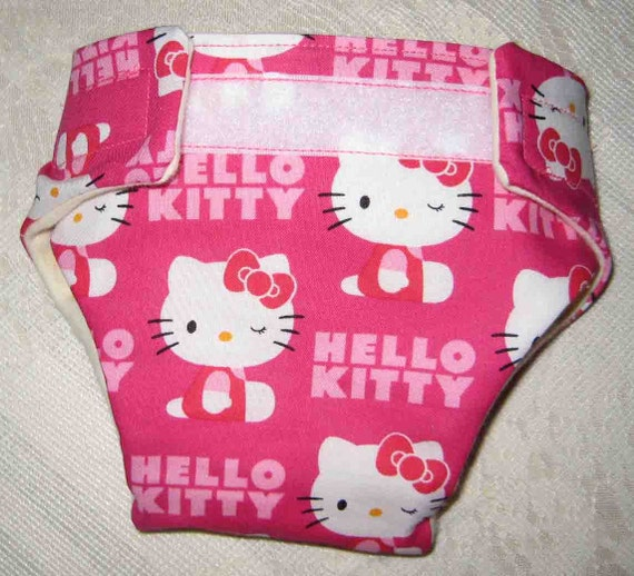 Baby Doll Diaper - Hello Kitty -Fits Bitty Baby Alive,Cabbage Patch, American Girl Dolls and More