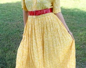 Vintage Yellow Executive Secretary Dress
