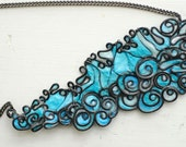 Ocean Sculptural Necklace in Blues