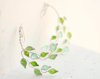 4th Anniversary Gift, Mint Green Earrings, Healing Jewelry, Get Well Gift