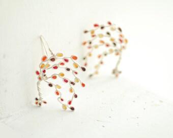 Branch Earrings, Maple Tree Jewelry, Japanese Maple, Statement Earrings