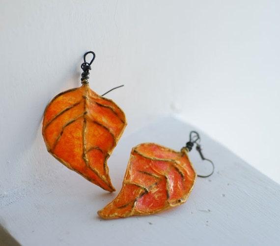 Harvest Leaf Earrings...