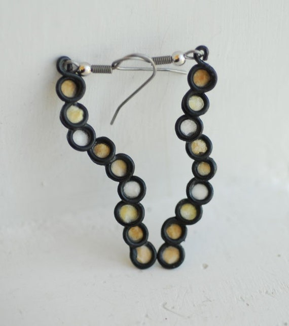 Cappuccino Bubble Earrings in White Tones....