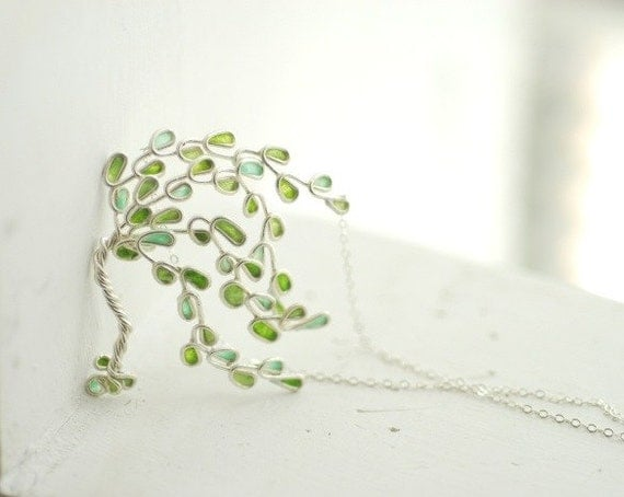 Willow Tree Necklace Sterling Silver 1st 9th Anniversary Gift