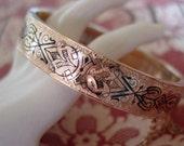Antique Victorian Wedding Bracelet in Black Taille D'Epergne Enameling