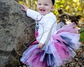 Punk Rock Princess Sewn Tutu---AS SEEN ON THE VIEW---includes matching headband with flower clip-super fast shipping
