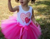 Strawberry Sweetheart Sewn Tutu--AS SEEN ON THE VIEW--sz nb\/5 matching headband set included