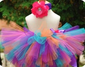 First Birthday Tutu, baby tutu, pink, purple, orange, blue
