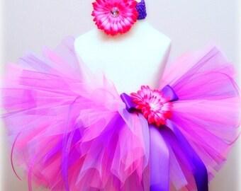 Pink Purple Tutu Set - Toddler Girl Tutu sizes 24 months to 5