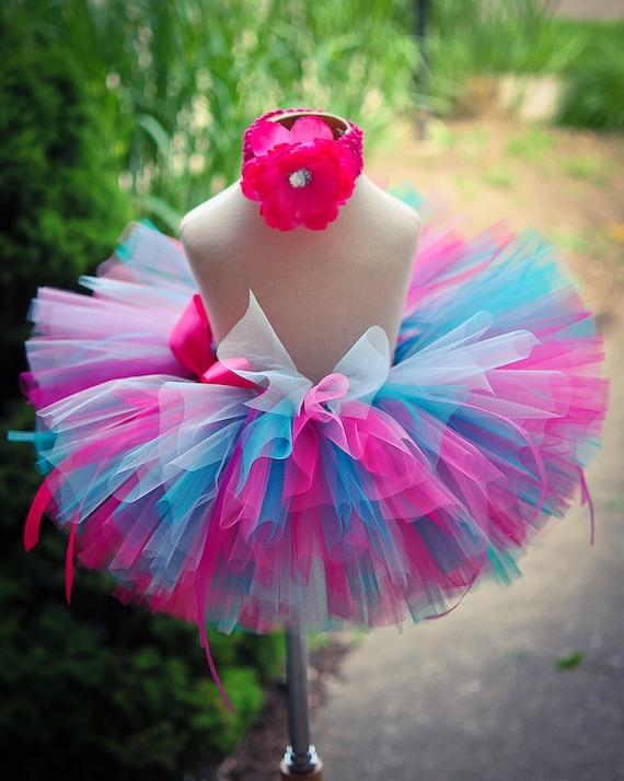 Pink Blue Tutu Skirt Baby Tutu Toddler Tutu Birthday Tutu