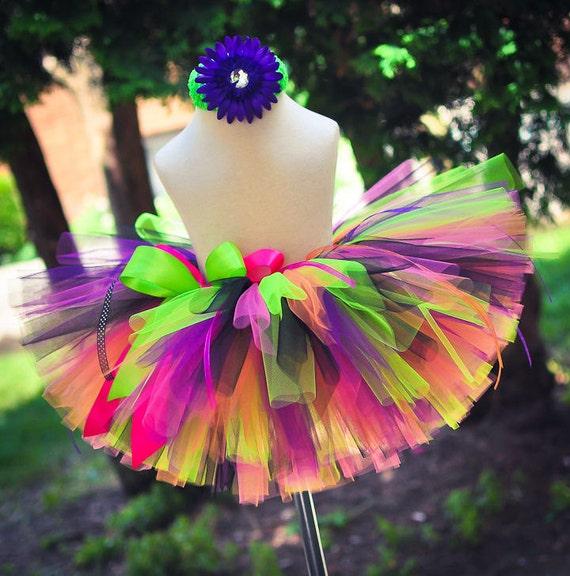 Tutu Toddler Tutu Birthday Tutu Neon Brights Sewn Tutu