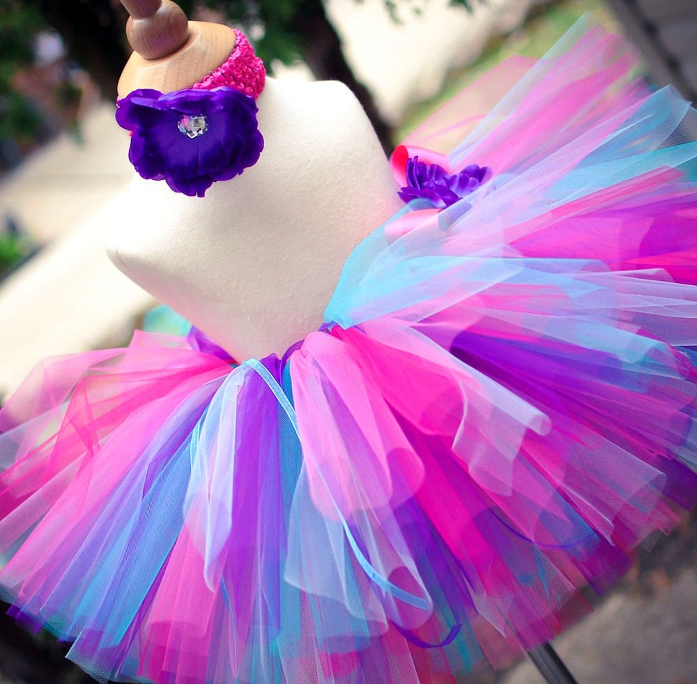 Tutus Tutu: Purple Pink And Blue Tutu Set Baby Tutu And By TrinitysTutus