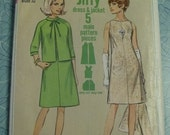 FREE SHIP Vintage 1966 Simplicity Pattern - 6775 - Vintage Size 12, Bust 32
