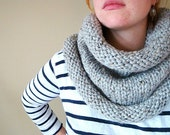 the bailey chunky knit cowl in GREY MARBLE - unisex
