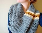the dockside crochet infinity scarf in SILVER GREY (vegan friendly)