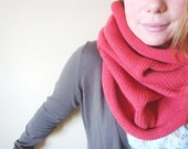 sequoia knit cowl in ROUGE (vegan friendly) - womens knit cowl - unisex cowl