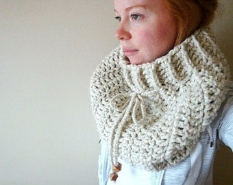 the soran ribbed cowl in WHEAT (custom colour option)