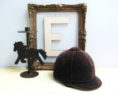 Vintage Velvet Equestrian Rider Helmet - Classic and Refined - TREASURY PICK