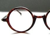 Vintage 80's Round Tortoise Eyeglass Frames