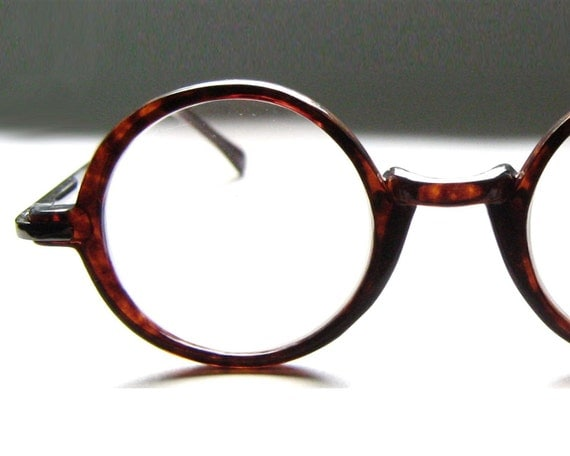 Eyeglass Frames Fairview Heights Il : Vintage 80s Round Tortoise Eyeglass Frames