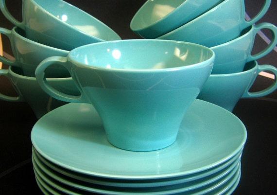 Aqua Turquoise Malmac Malamine Retro Vintage Kitchen