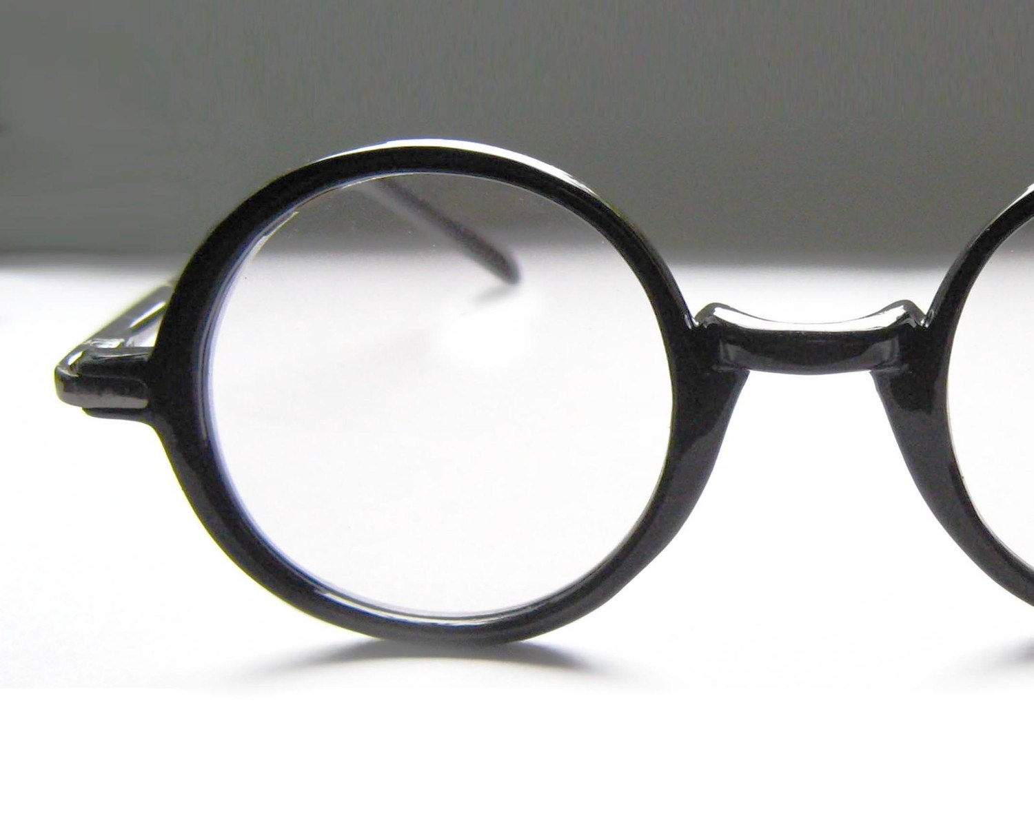 Eyeglass Frame Latest : Vintage 80s Round Black Eyeglass Frames