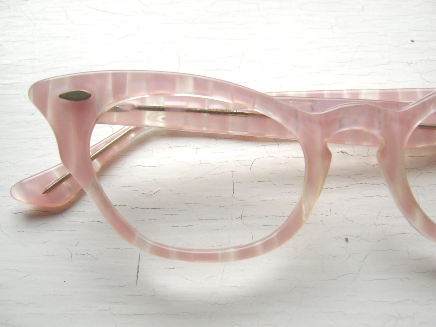 frames pink striped eyeglasses zoom