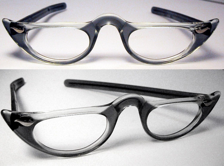 Glasses Frame Fading : 50s GREY Fade CAT EYE Eyeglass Frames