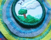 Funky Girl Scout Badge Felt Brooch or Hair Clip