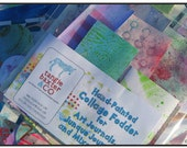 Hand-Painted Paper Fodder for Art Journals, Mixed-Media and Junque Journals