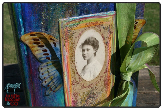 """The Gypsy Diaries No. 2 """"Fiona"""" Altered Book Journal"""
