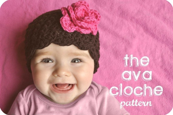 Crochet Baby Hat Pattern The Ava Cloche by LittleBirdieShoppe