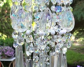Most Romantic Jeweled Vintage Crystal Wind Chime SOLD