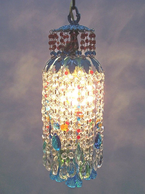 Jeweled Sunset Crystal Pendant Chandelier