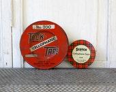 Vintage Tape Tins - Set of Two